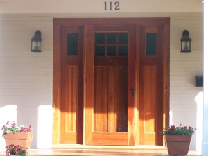 this is the door that we copied.  ours doesn't have a storm door.