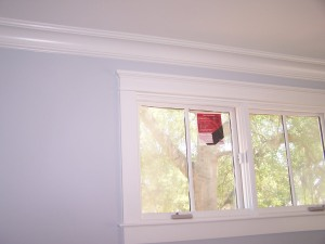Example of cove molding and nice window trim